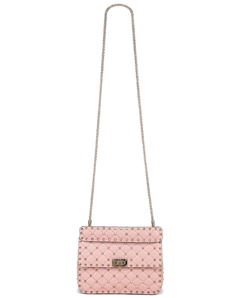 Image 6 of Valentino Medium Rockstud Spike Shoulder Bag in Water Rose