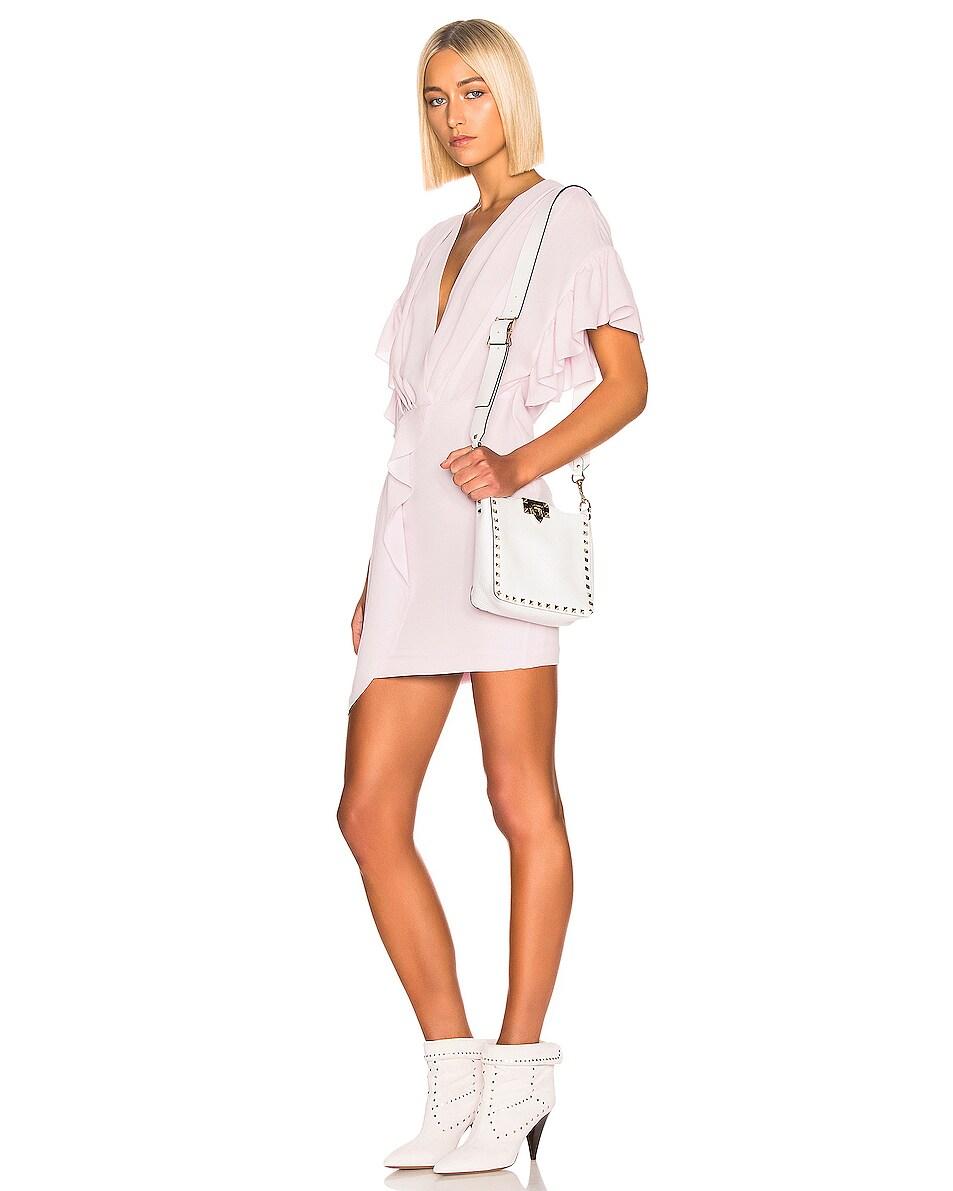 Image 2 of Valentino Rockstud Mini Hobo Bag in Bianco Ottico