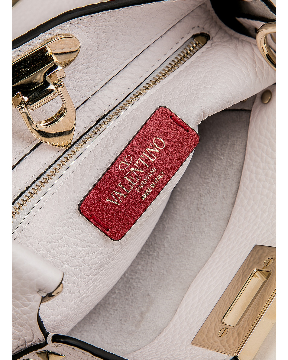 Image 7 of Valentino Rockstud Mini Hobo Bag in Bianco Ottico