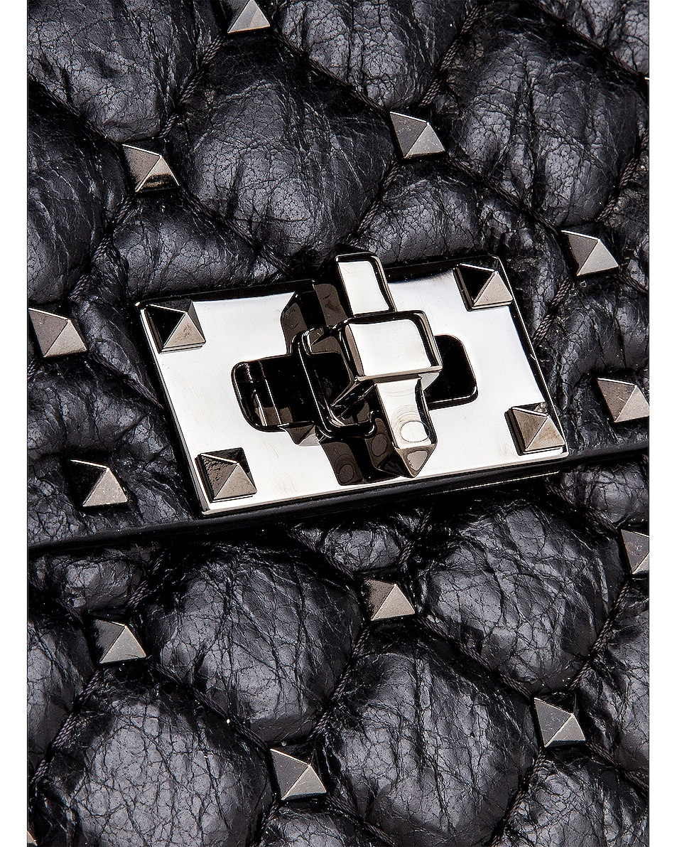 Image 8 of Valentino Rockstud Spike Medium Shoulder Bag in Nero
