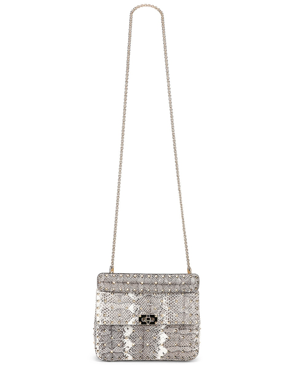 Image 6 of Valentino Rockstud Spike Medium Shoulder Bag in Multicolor Roccia
