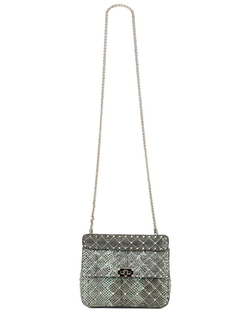 Image 5 of Valentino Rockstud Spike Medium Shoulder Bag in Multicolor Turchese