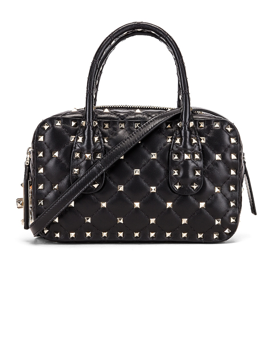 Image 1 of Valentino Rockstud Spike Small Duffle Bag in Nero