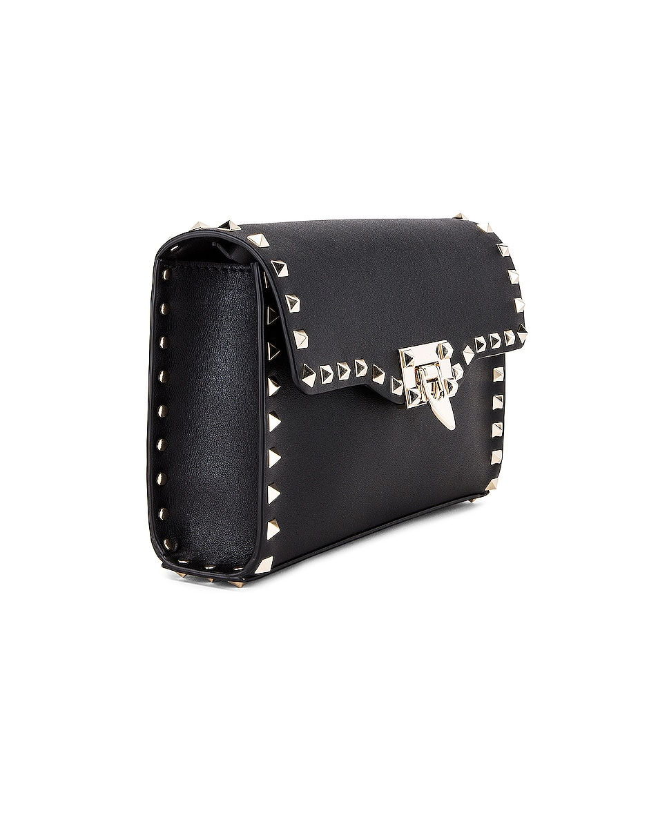 Image 4 of Valentino Rockstud Small Shoulder Bag in Nero