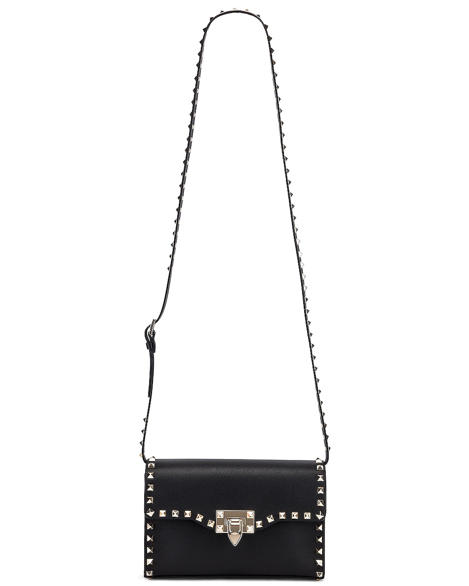 Image 6 of Valentino Rockstud Small Shoulder Bag in Nero
