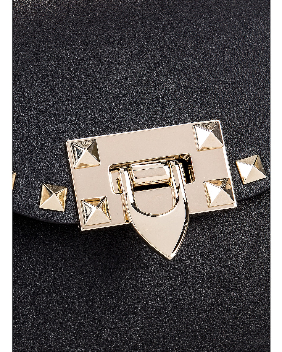 Image 8 of Valentino Rockstud Small Shoulder Bag in Nero