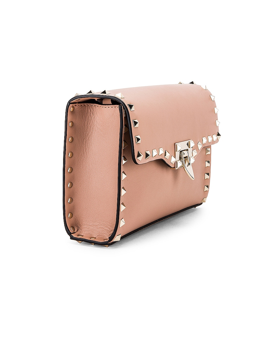 Image 4 of Valentino Rockstud Small Shoulder Bag in Rose Cannelle