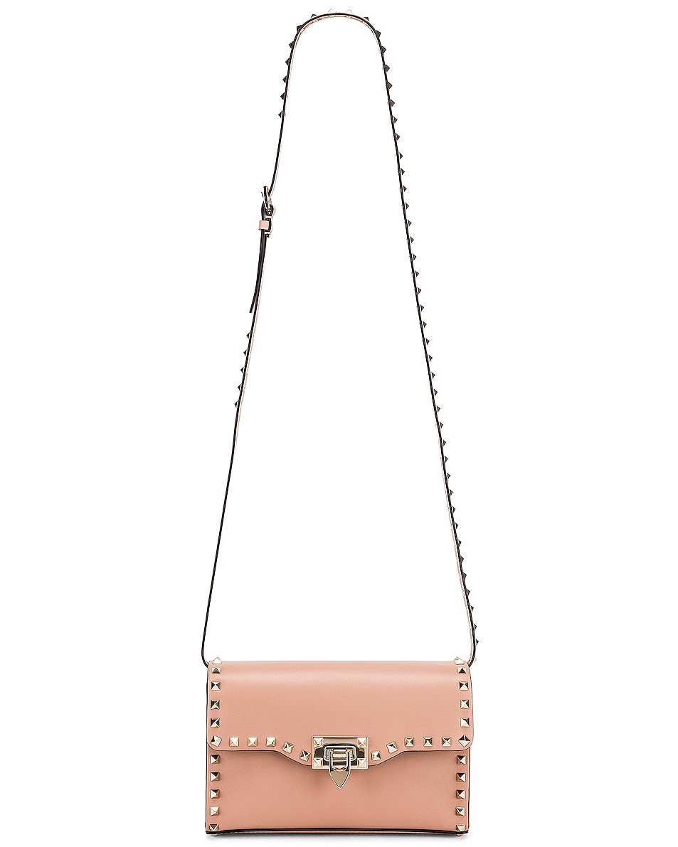 Image 6 of Valentino Rockstud Small Shoulder Bag in Rose Cannelle