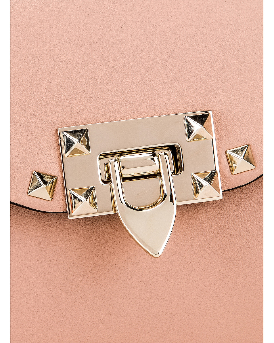 Image 8 of Valentino Rockstud Small Shoulder Bag in Rose Cannelle