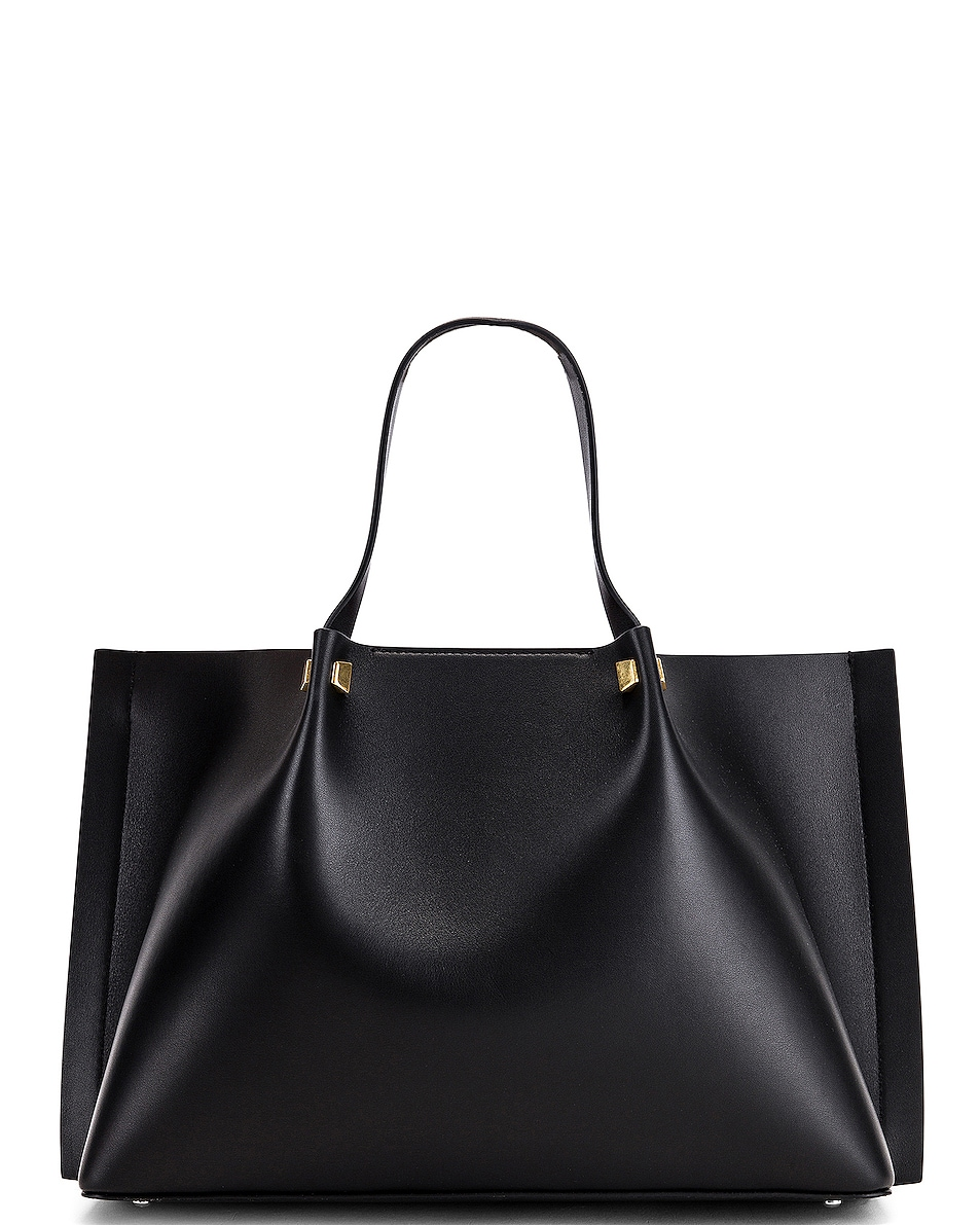 Image 3 of Valentino VLogo Escape Medium Tote in Black & White