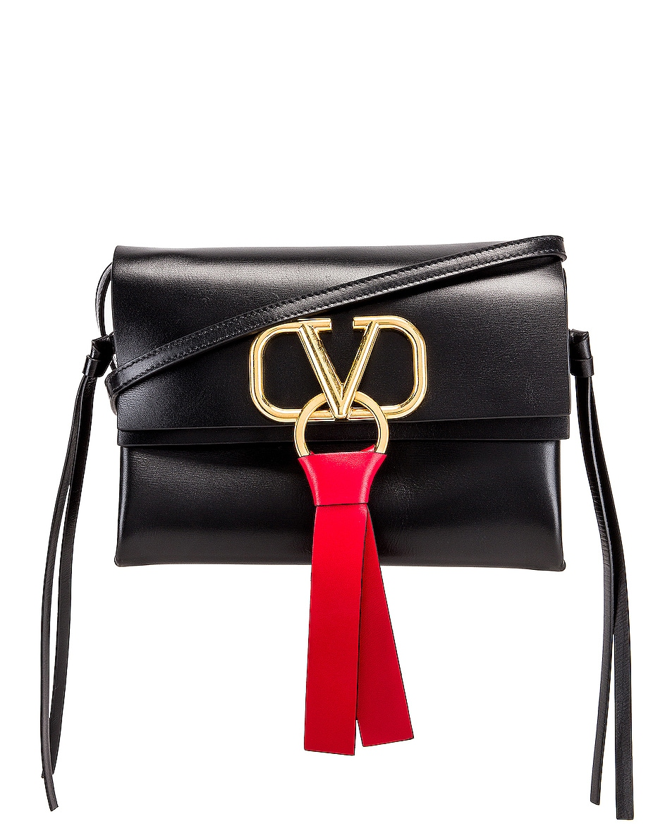 Image 1 of Valentino VRing Crossbody Bag in Nero
