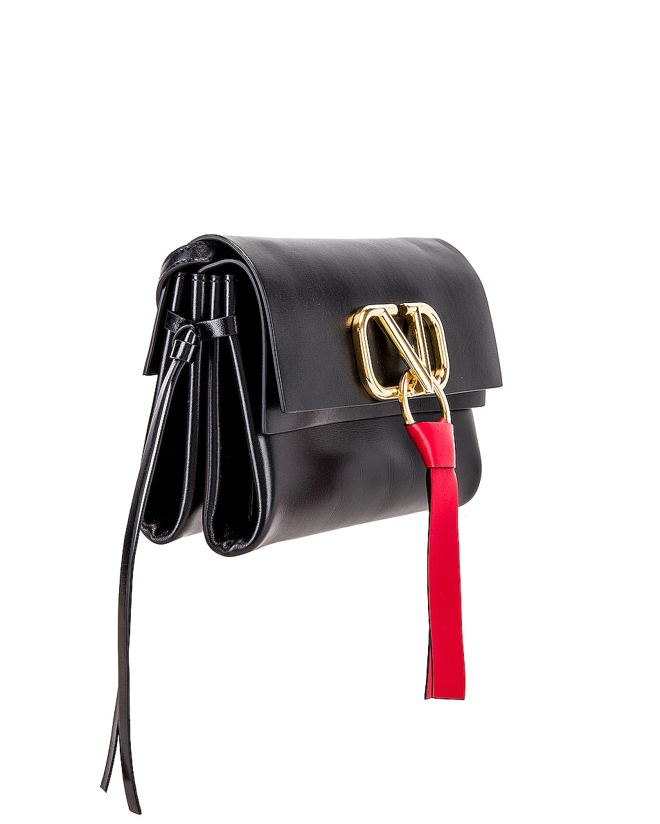 Image 4 of Valentino VRing Crossbody Bag in Nero