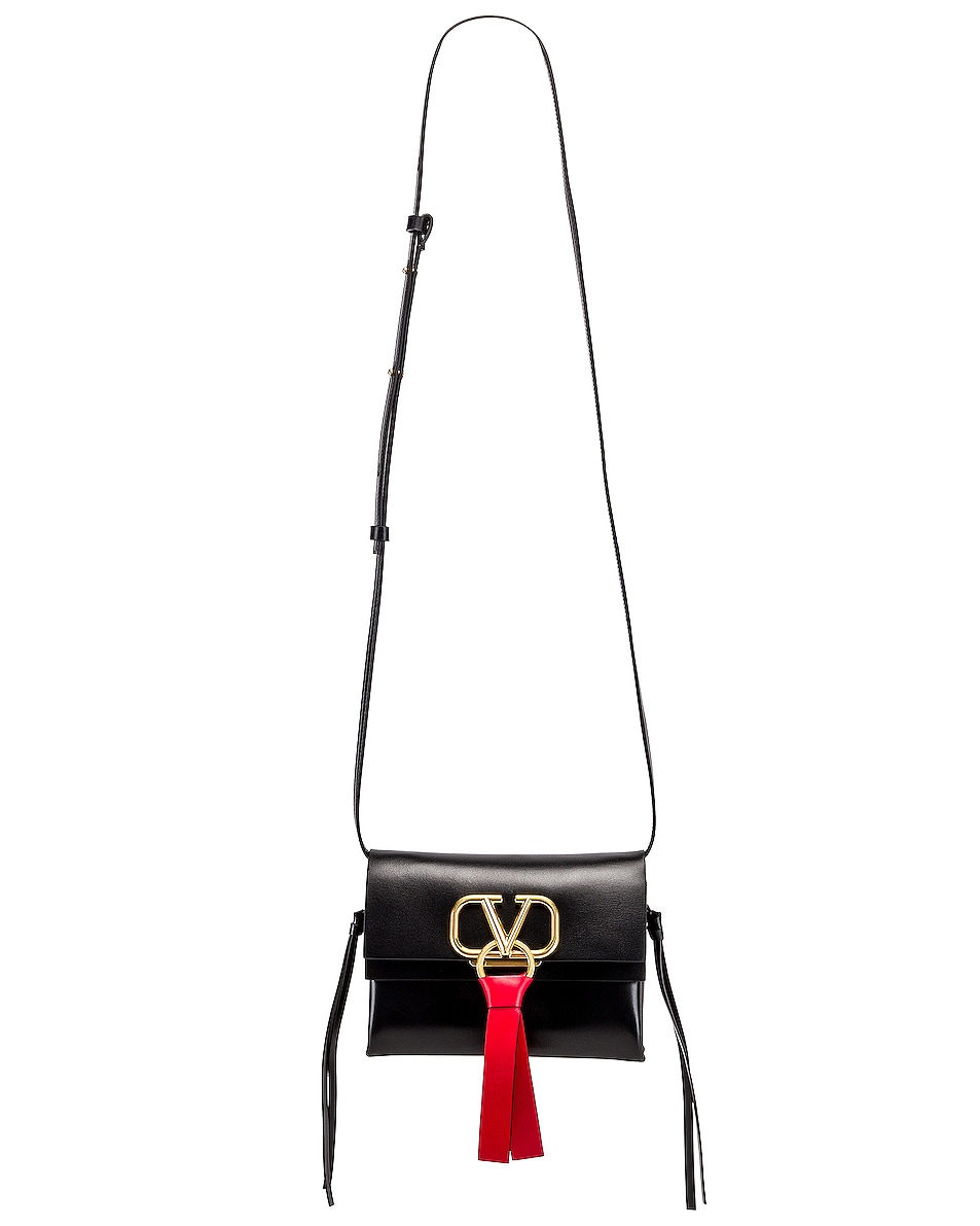 Image 6 of Valentino VRing Crossbody Bag in Nero