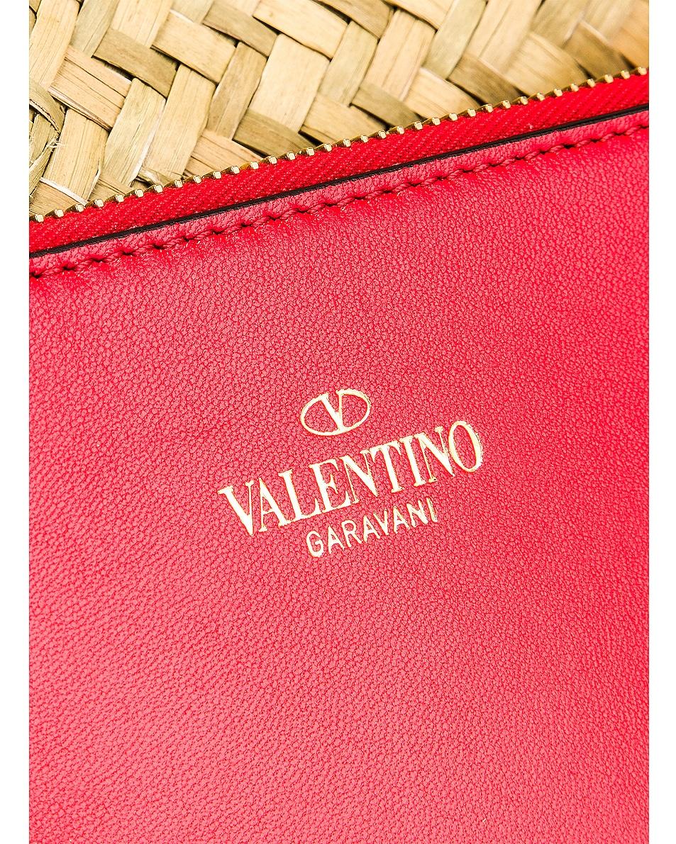 Image 7 of Valentino Go Logo Escape Medium Tote in Natural