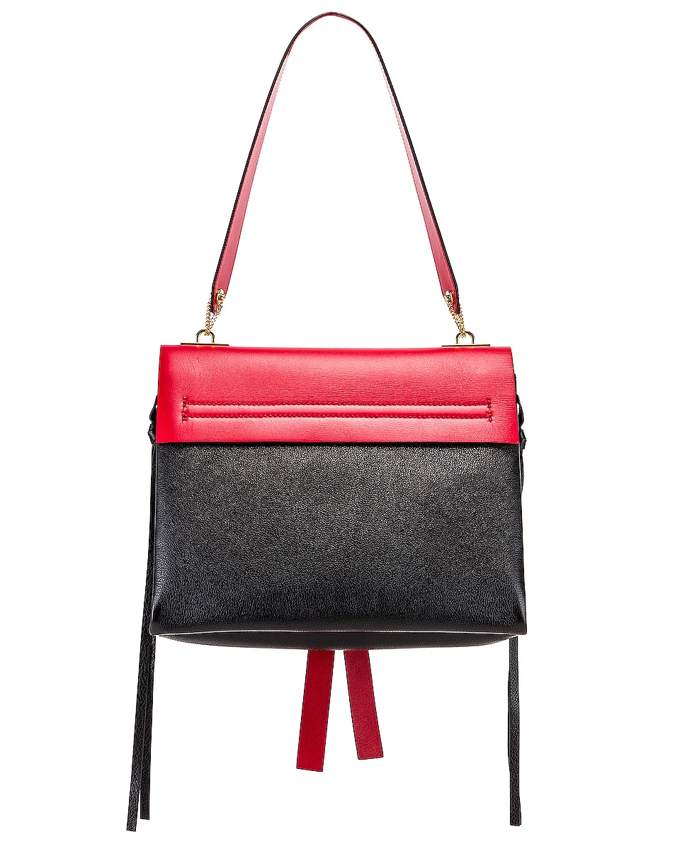 Image 3 of Valentino VRing Medium Shoulder Bag in Rouge