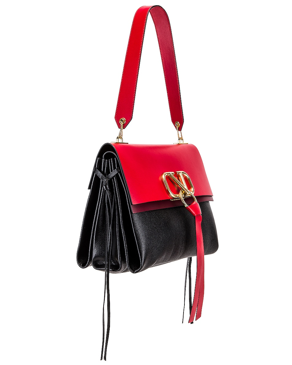 Image 4 of Valentino VRing Medium Shoulder Bag in Rouge