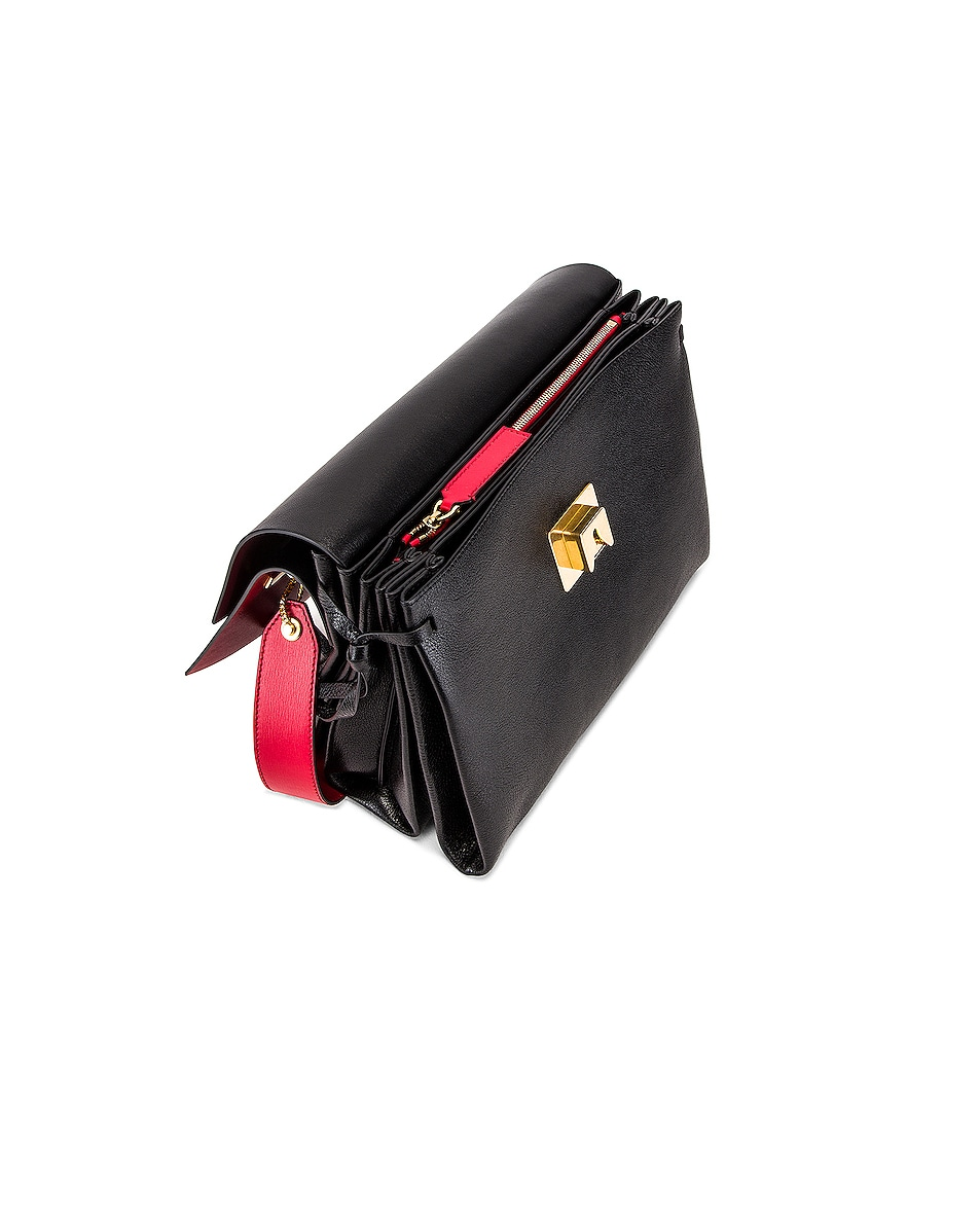 Image 5 of Valentino VRing Medium Shoulder Bag in Rouge
