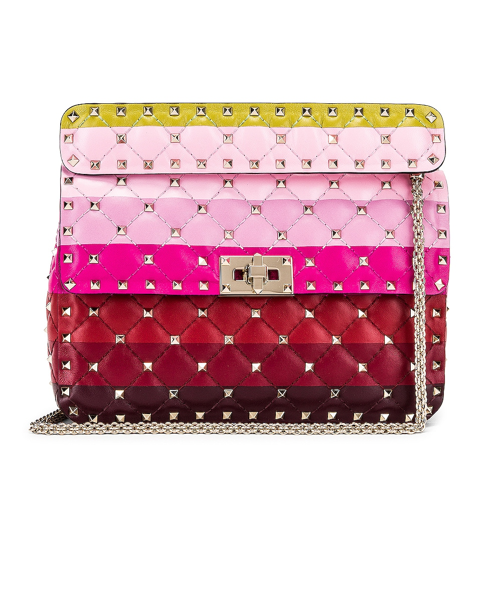 Image 1 of Valentino Medium Rockstud Spike Shoulder Bag in Multicolor