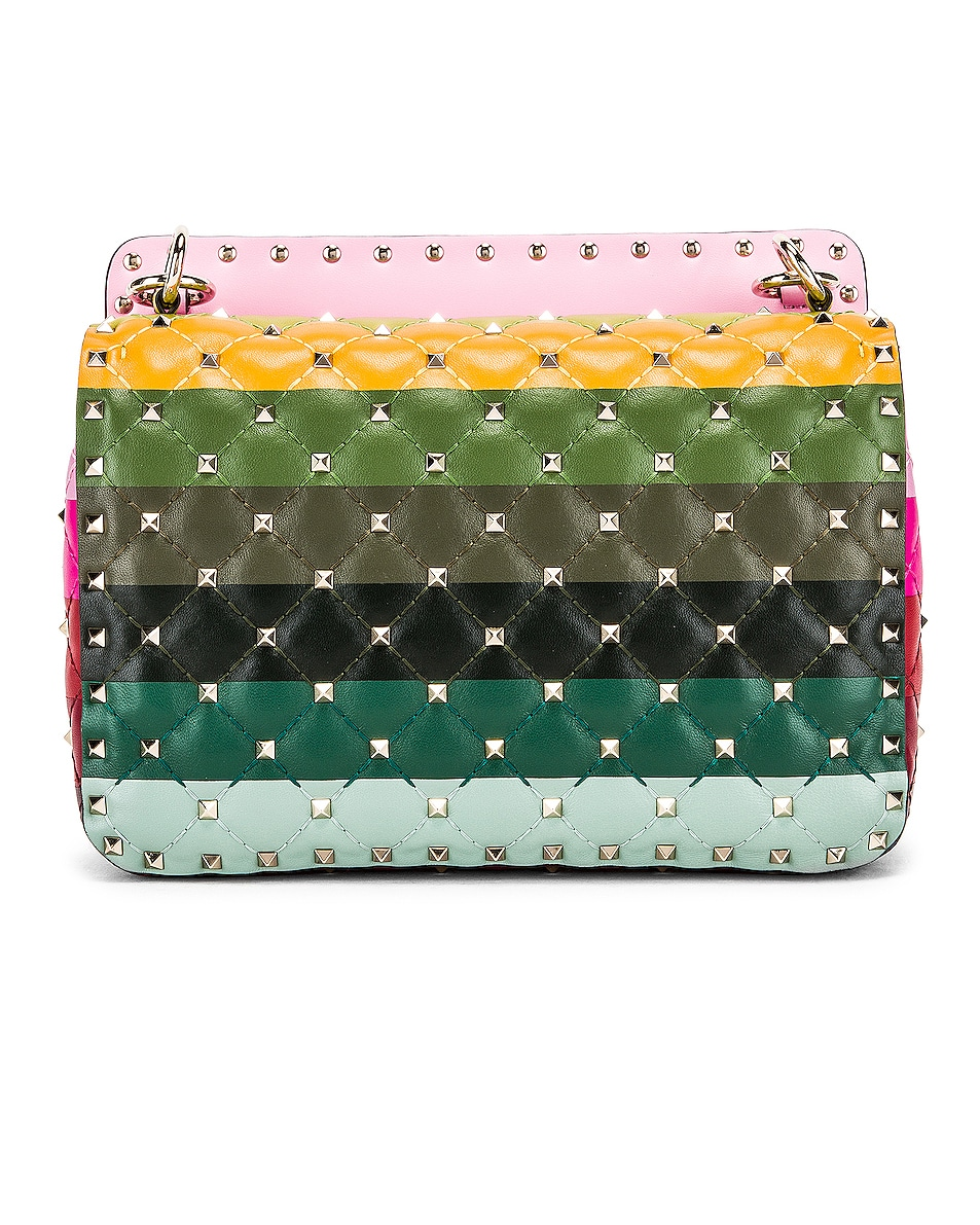 Image 3 of Valentino Medium Rockstud Spike Shoulder Bag in Multicolor