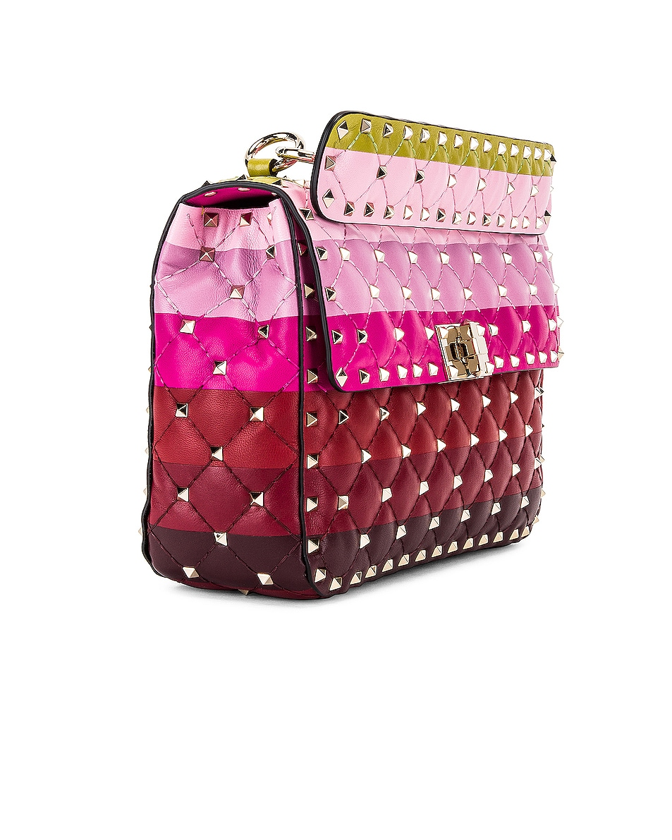 Image 4 of Valentino Medium Rockstud Spike Shoulder Bag in Multicolor
