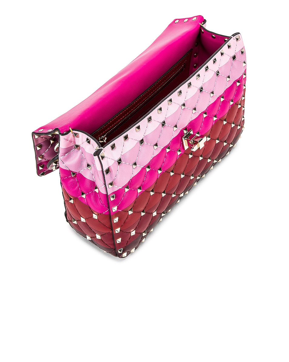 Image 5 of Valentino Medium Rockstud Spike Shoulder Bag in Multicolor