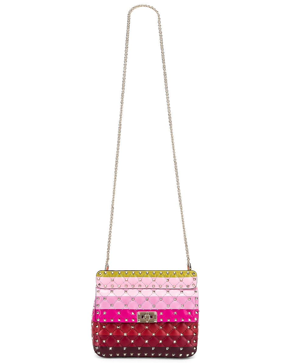 Image 6 of Valentino Medium Rockstud Spike Shoulder Bag in Multicolor