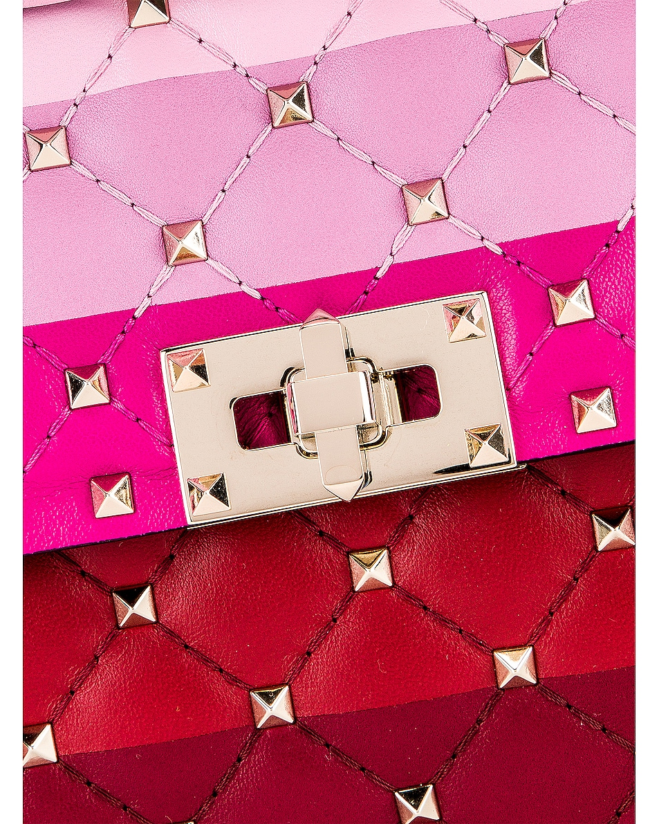 Image 8 of Valentino Medium Rockstud Spike Shoulder Bag in Multicolor