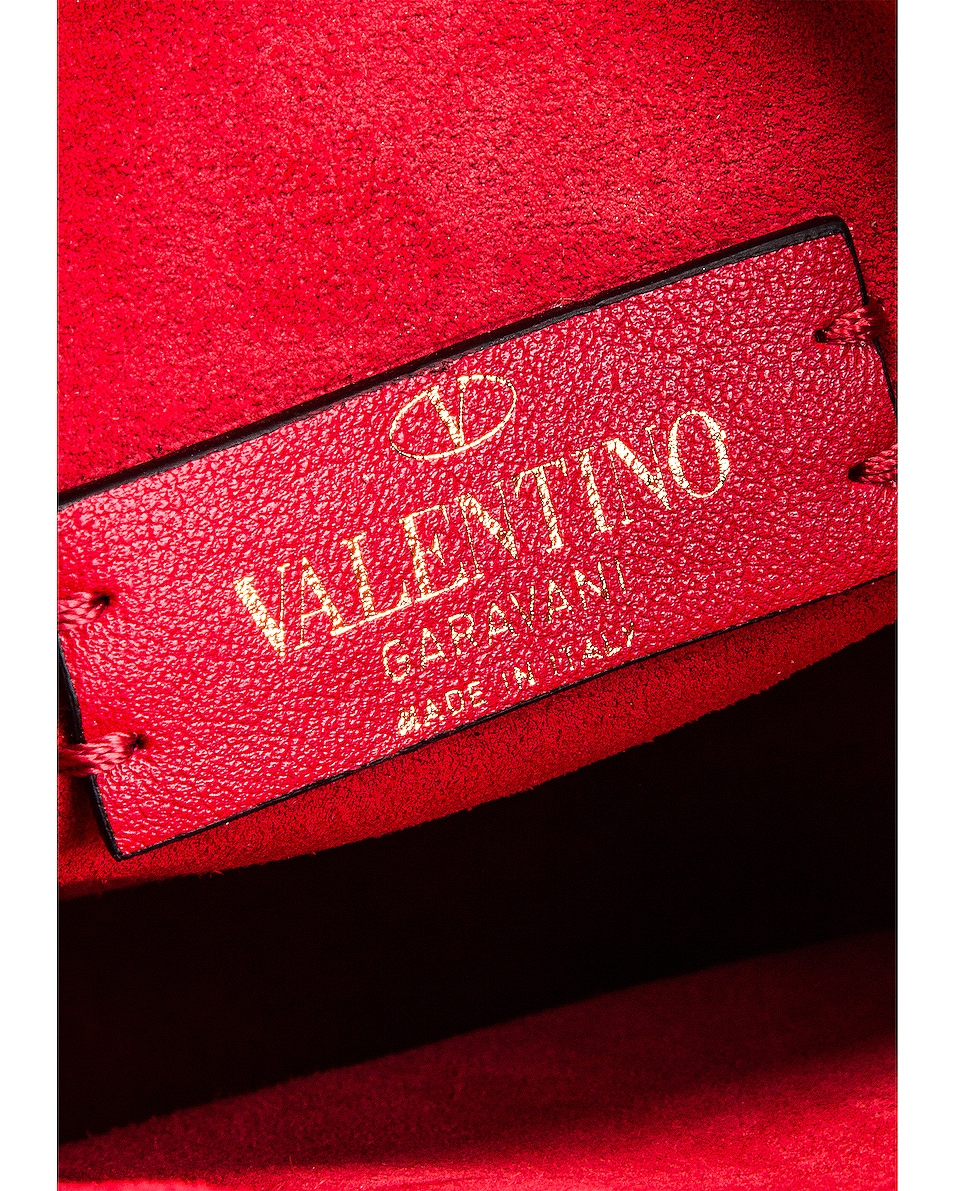 Image 7 of Valentino VRing Small Saddle Bag in Rouge