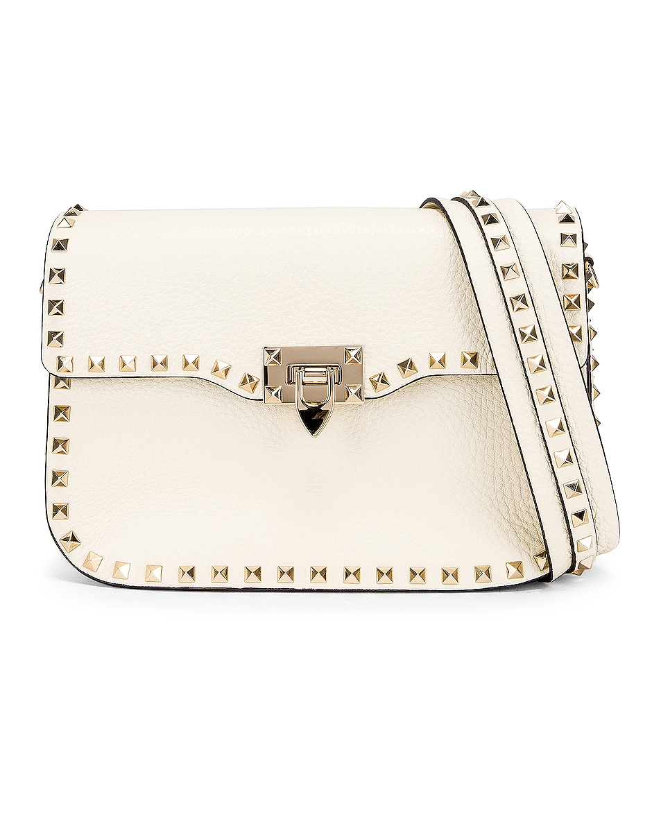 Image 1 of Valentino Rockstud Shoulder Bag in Light Ivory