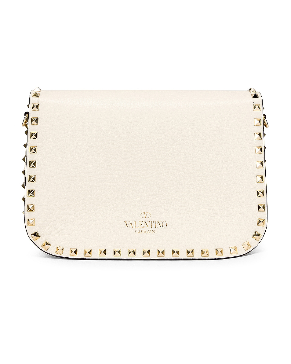 Image 3 of Valentino Rockstud Shoulder Bag in Light Ivory