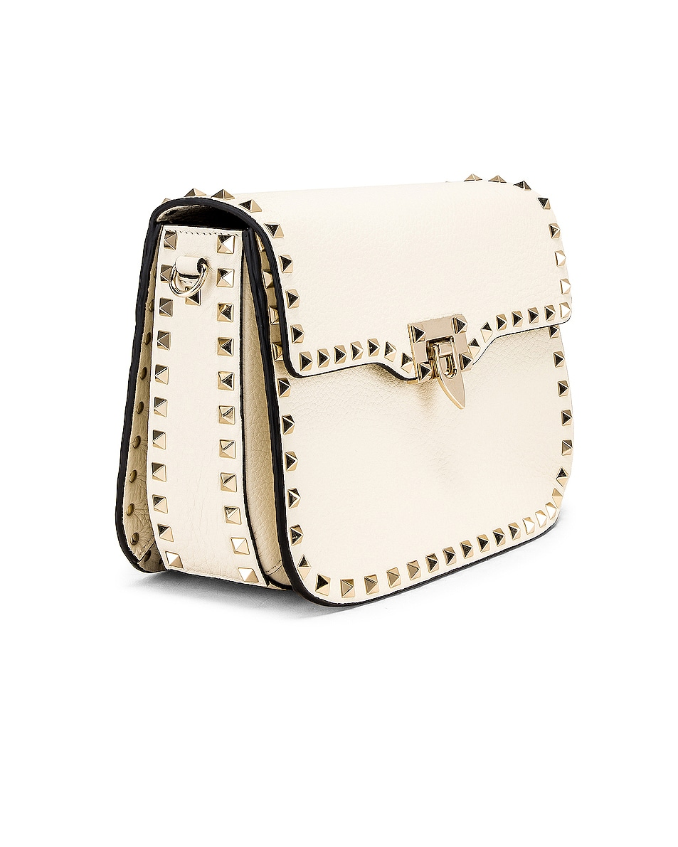 Image 4 of Valentino Rockstud Shoulder Bag in Light Ivory