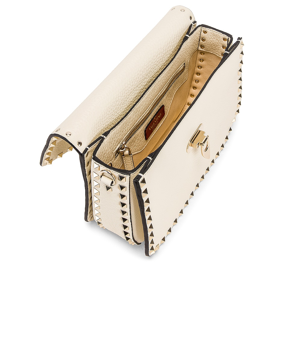 Image 5 of Valentino Rockstud Shoulder Bag in Light Ivory