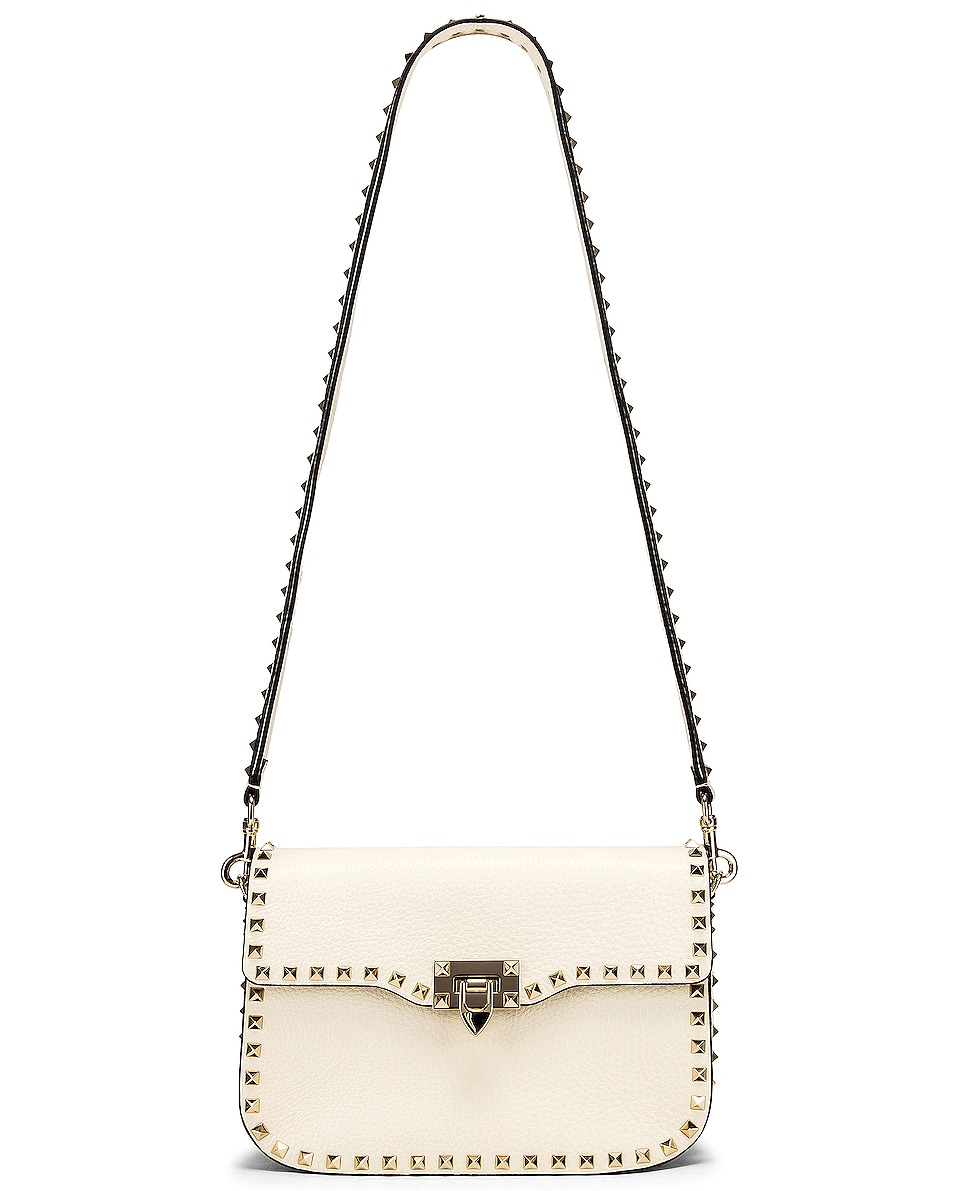 Image 6 of Valentino Rockstud Shoulder Bag in Light Ivory