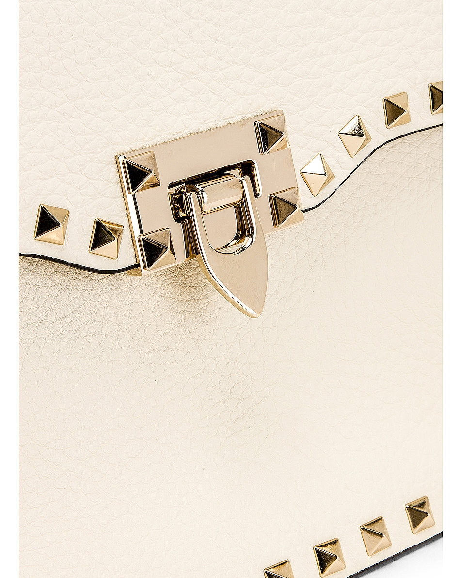 Image 8 of Valentino Rockstud Shoulder Bag in Light Ivory