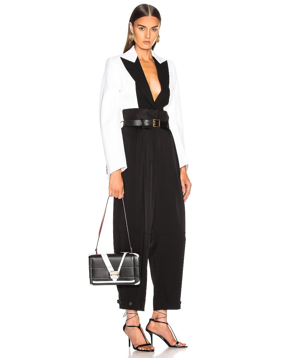 Image 2 of Valentino VLogo Shoulder Bag in Black & Red