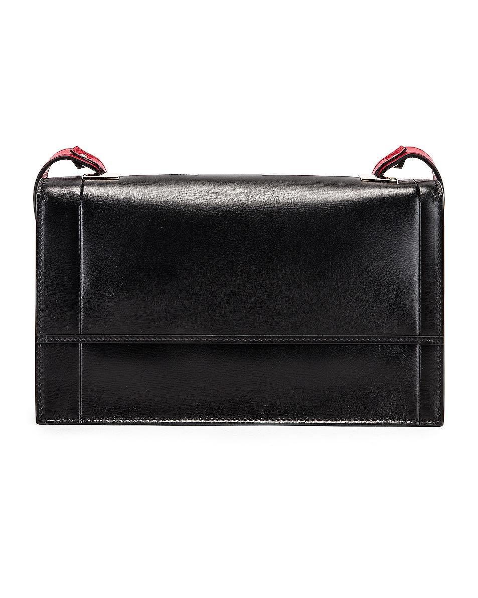Image 3 of Valentino VLogo Shoulder Bag in Black & Red