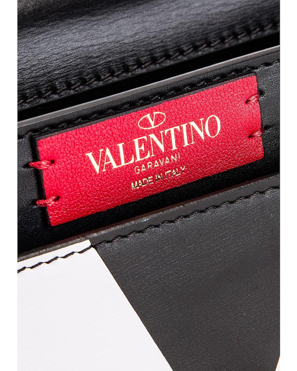 Image 7 of Valentino VLogo Shoulder Bag in Black & Red