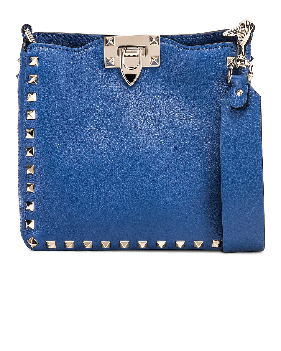 Image 1 of Valentino Rockstud Messenger Bag in Baltique