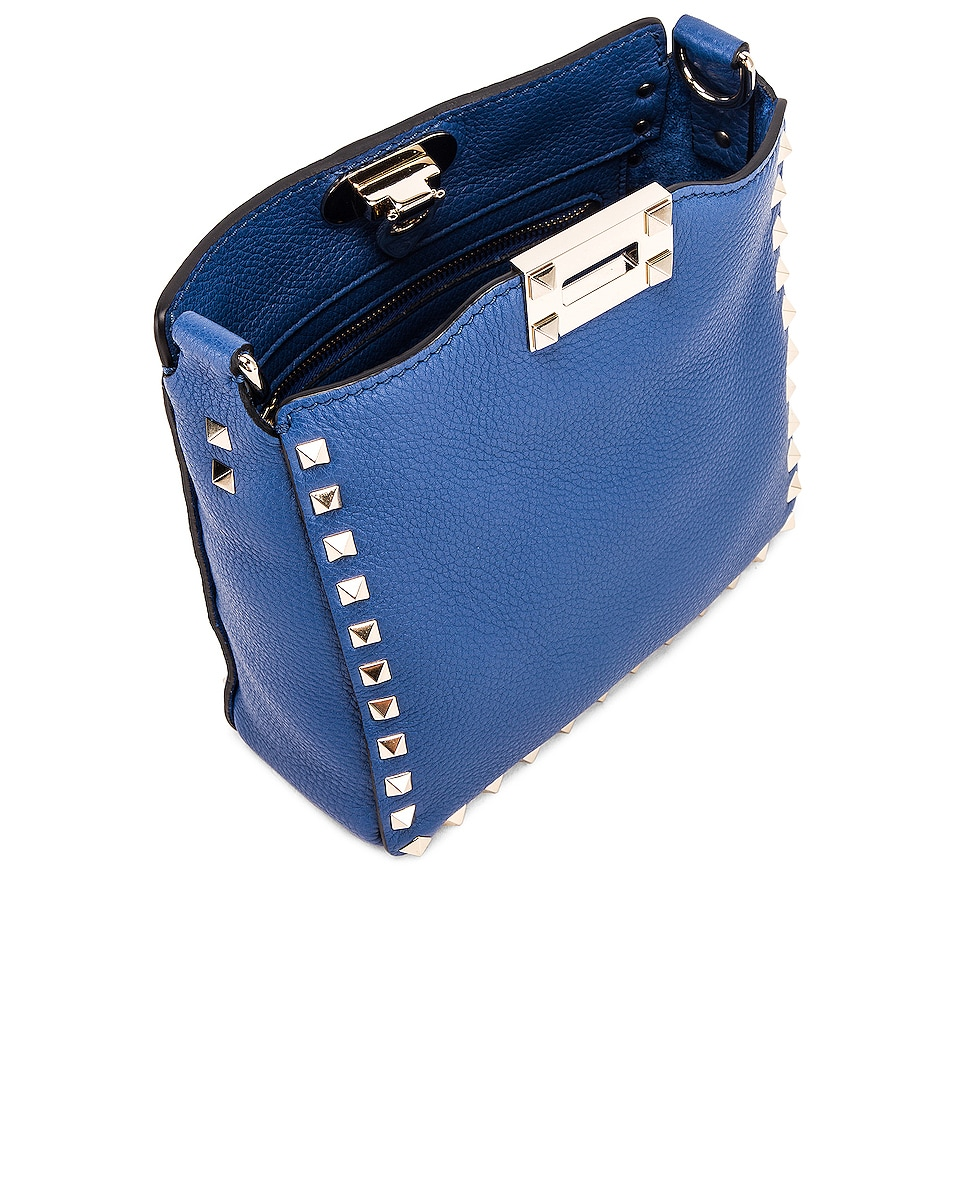 Image 4 of Valentino Rockstud Messenger Bag in Baltique