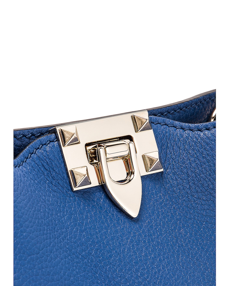 Image 7 of Valentino Rockstud Messenger Bag in Baltique