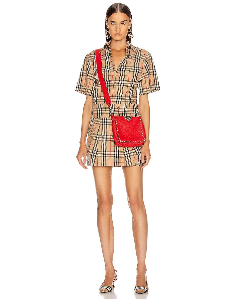 Image 2 of Valentino Rockstud Messenger Bag in Red