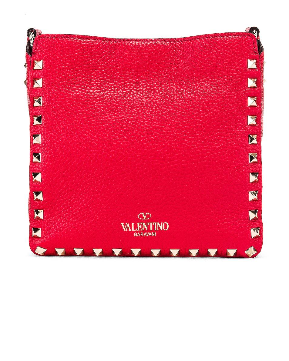Image 3 of Valentino Rockstud Messenger Bag in Red