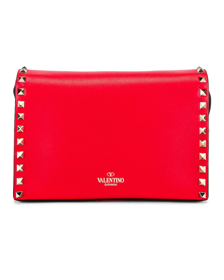 Image 3 of Valentino Rockstud Crossbody Bag in Red