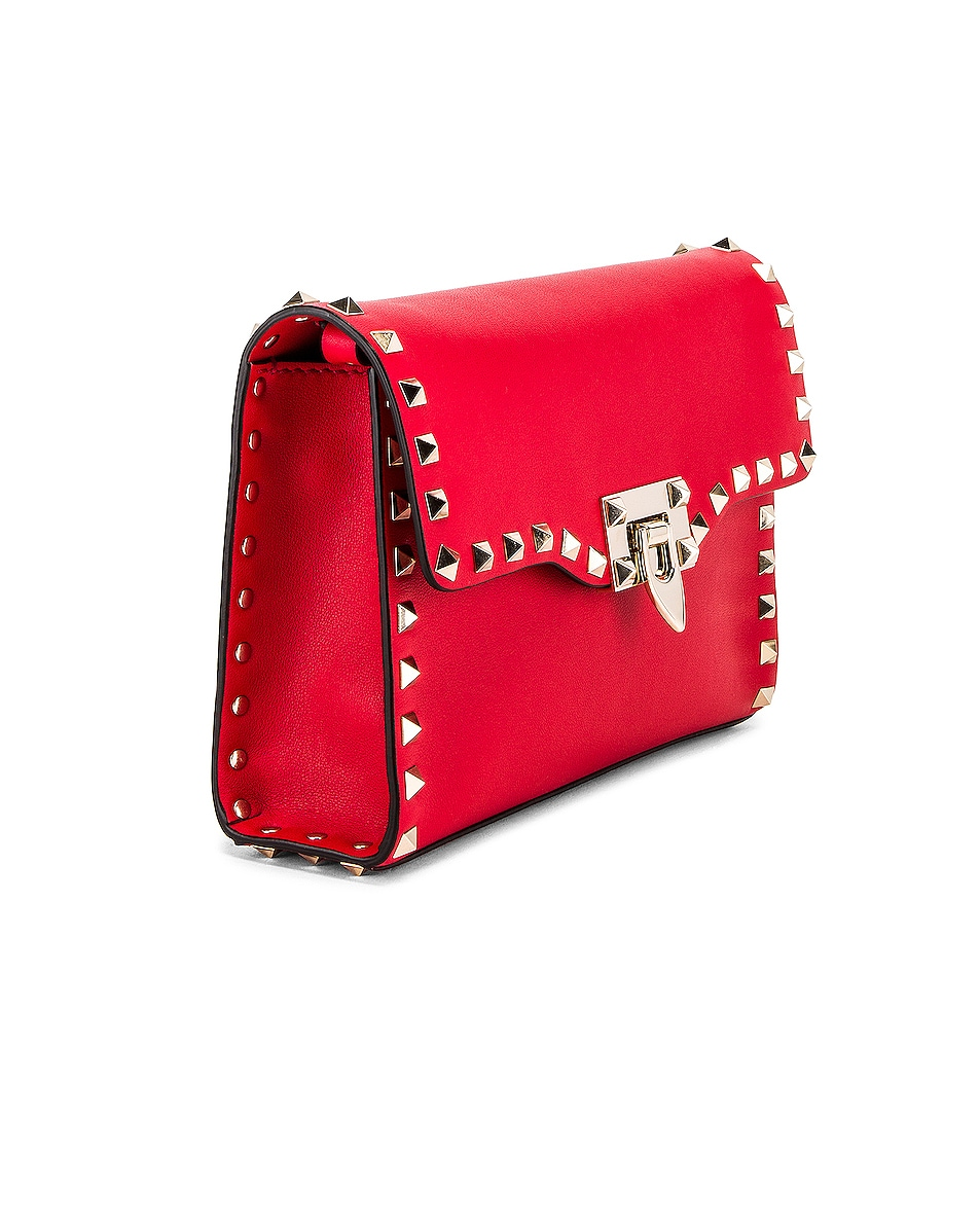 Image 4 of Valentino Rockstud Crossbody Bag in Red