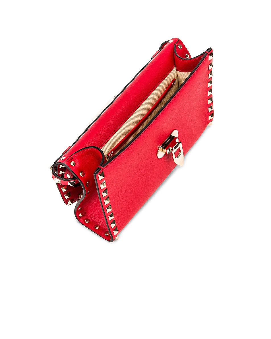 Image 5 of Valentino Rockstud Crossbody Bag in Red