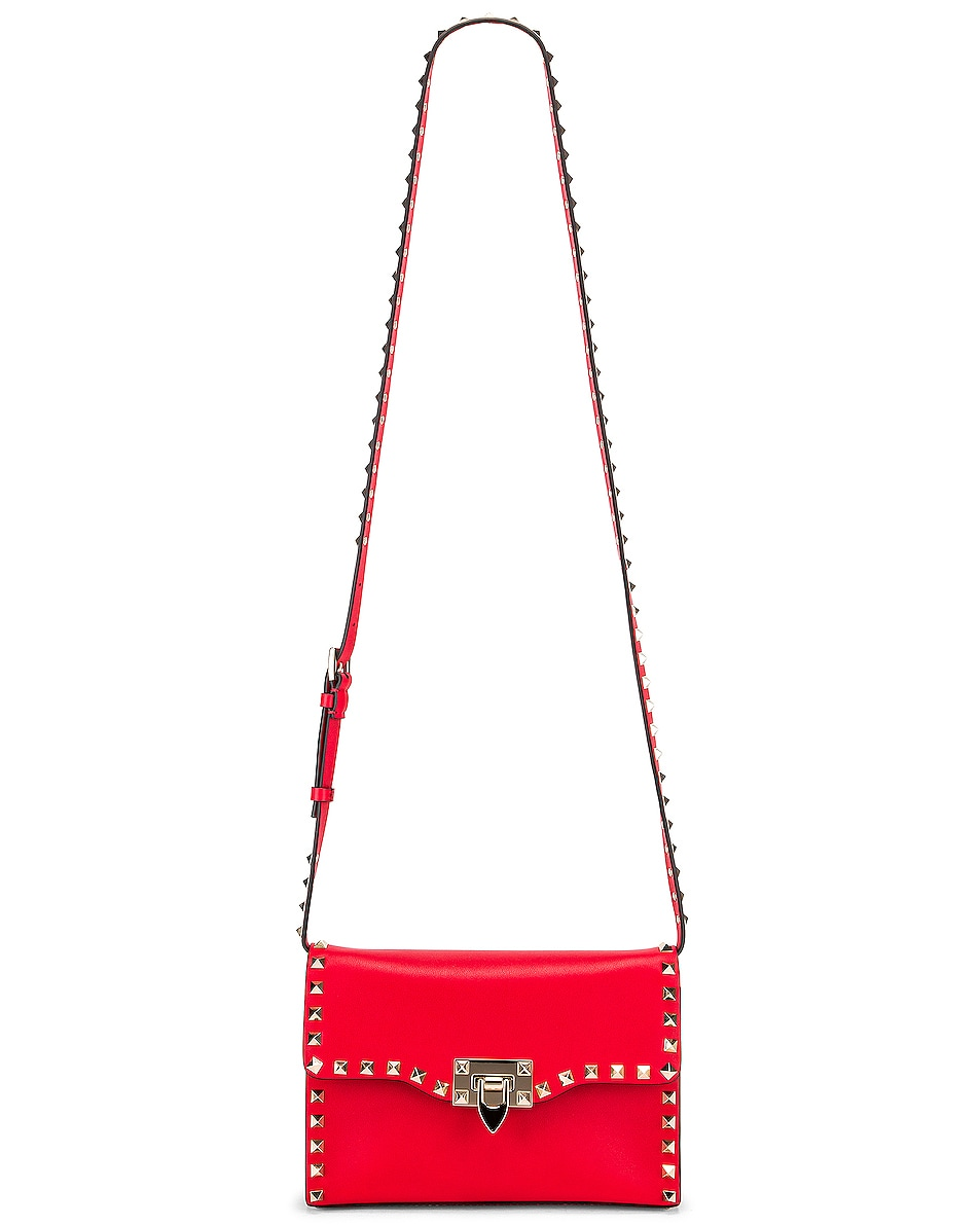 Image 6 of Valentino Rockstud Crossbody Bag in Red