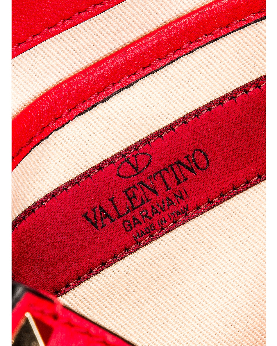 Image 7 of Valentino Rockstud Crossbody Bag in Red