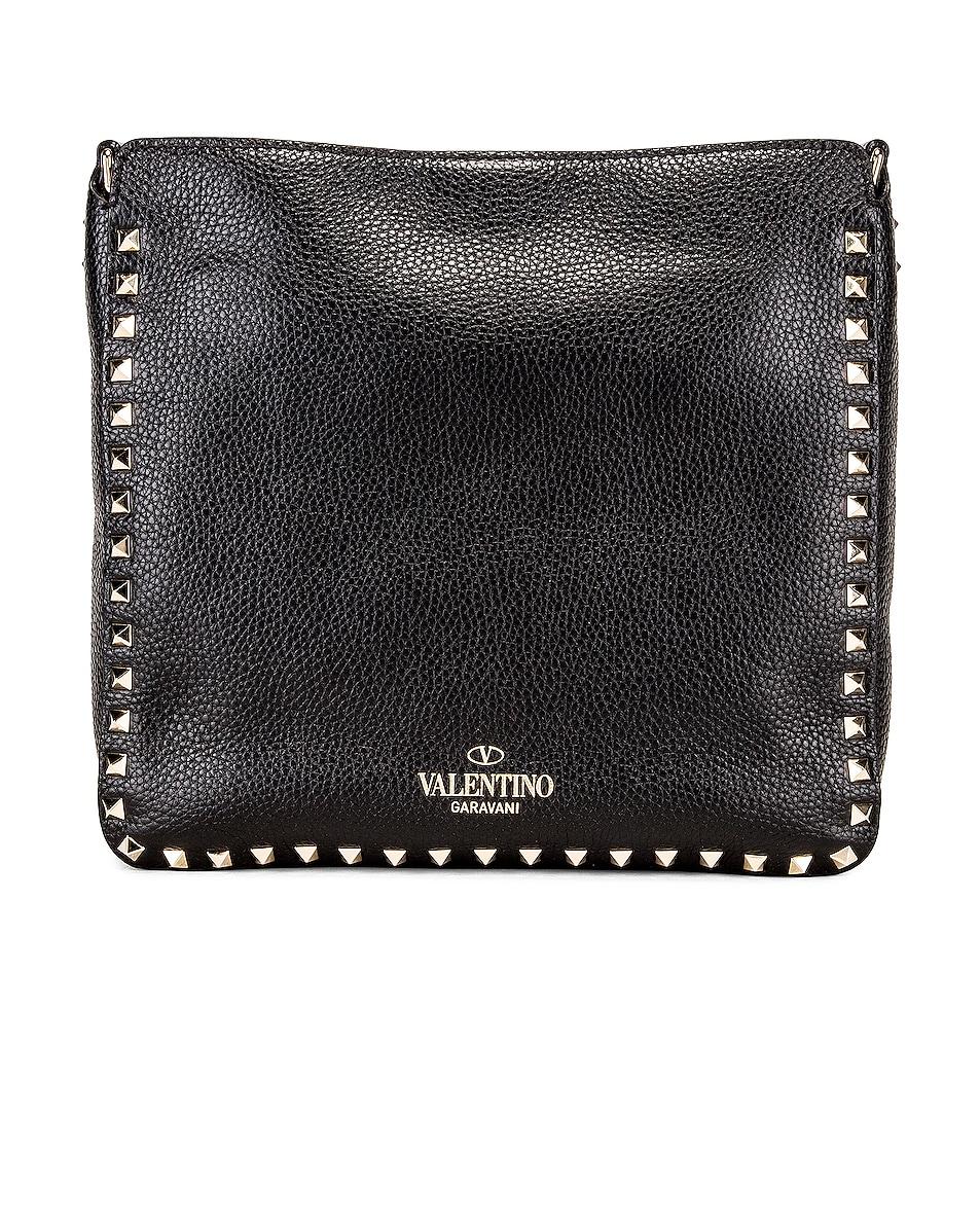Image 3 of Valentino Rockstud Shoulder Bag in Black