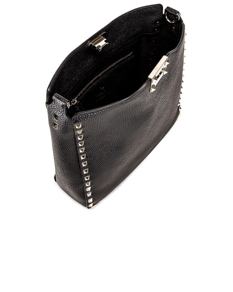 Image 5 of Valentino Rockstud Shoulder Bag in Black
