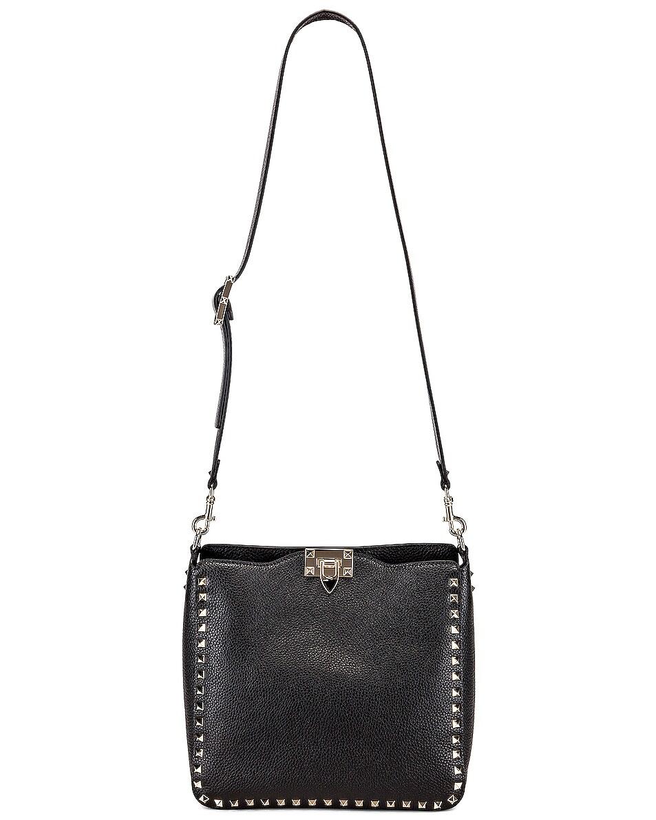 Image 6 of Valentino Rockstud Shoulder Bag in Black